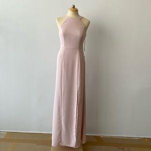 Dessy Bridesmaid Dress Blush Crepe Size 4 - NWT
